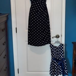 Lauren Ralph Lauren Dresses - *SOLD* Navy blue and white polkadot dress